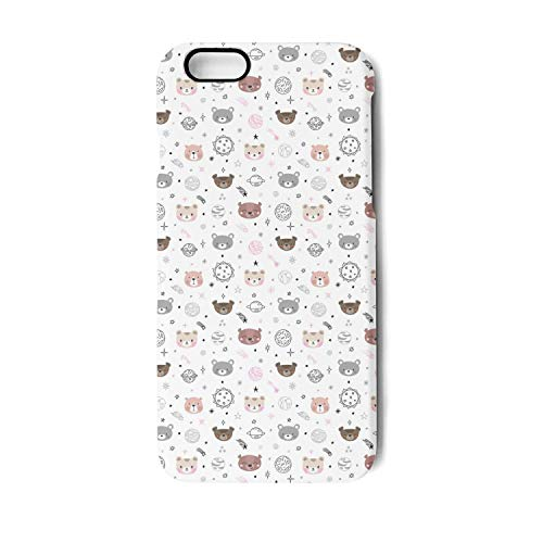 Phone case for 7/8 Cute Space Cartoon Bears Non-Slip Shock Absorption Gym Rugged Hard TPU Cover ()