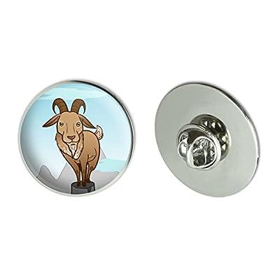 "New Goat On Mountain Top Metal 1.1"" Tie Tack Hat Lapel Pin Pinback free shipping"
