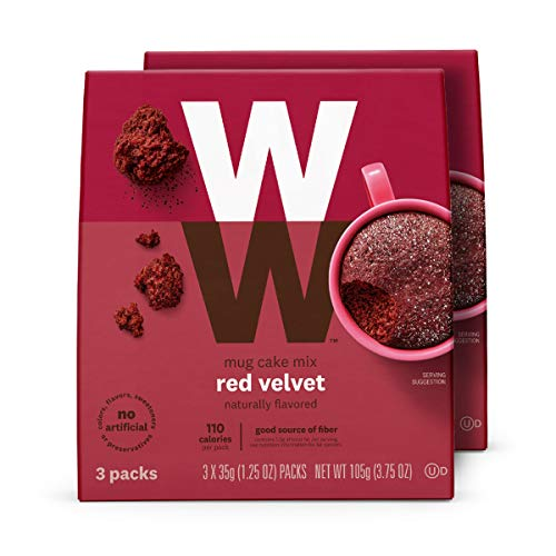 WW Red Velvet Mug Cake - High Protein, 3 SmartPoints - 2 Boxes (6 Count Total) - Weight Watchers ()