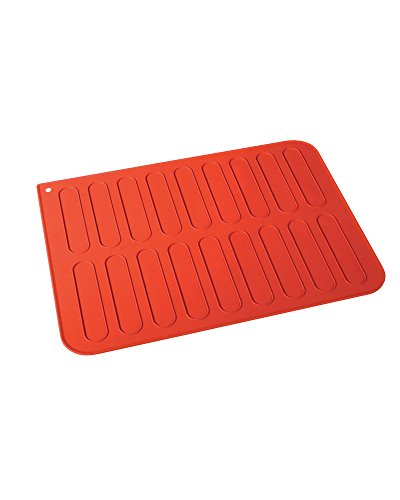 Martellato 30TE3001R Silicone Mat for Eclairs, 30 x 40 cm, Red