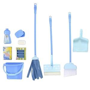 just like home deluxe cleaning set blue. Black Bedroom Furniture Sets. Home Design Ideas