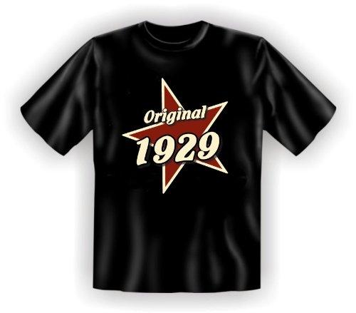 T-Shirt als lustiges Geschenk zum 86. Geburtstag für Jahrgang 1929 - Geburtstagsgeschenk mit Humor! Farbe: schwarz