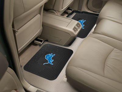 NFL - Detroit Lions Backseat Utility Mats 2 (Detroit Lions Nfl Floor)