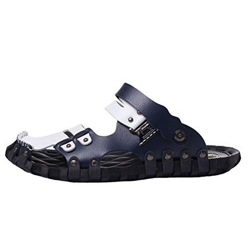 Vogstyle Men's Summer Beach Casual Sandals Flip Flop Slipper Shoes Style 1-Blue