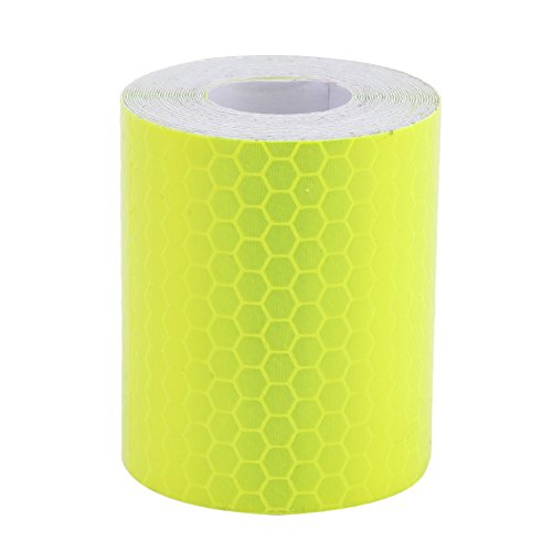 Whitelotous 2 x 120 Inch Reflective Tape Conspicuity Diamond Grade Tape, Automotive, Motorcycle, Trailer Tractor Truck Reflectors, Safety Caution Warning (Yellow)