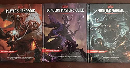 3 Book Dungeons & Dragons Complete Core Series ( 5th ) Fifth Edition Starter Set