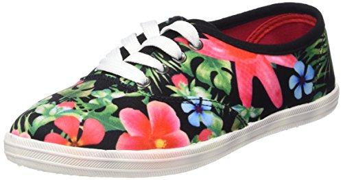 Supremo Kinderschuhe, Mädchen Sneakers, Mehrfarbig (black-multi), 34 EU