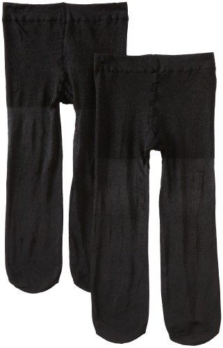 Tights Black Shimmer (Country Kids Big Girls' Pearl Shimmer 2 Pack Tights, Black, 9-11 Years)