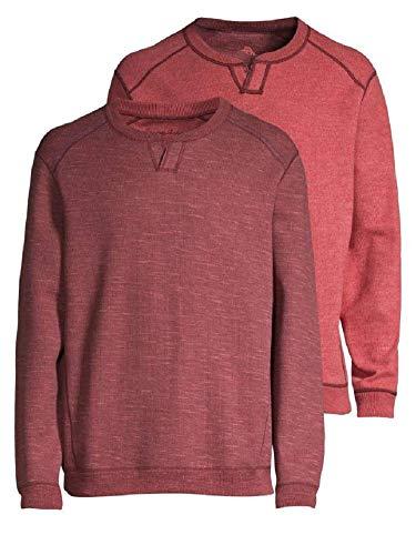Tommy Bahama Reversible Sweatshirt - Tommy Bahama Men's New Flip Side Pro Reversible Abaco Sweatshirt (Color: Plum Raisin Heather, Size L)