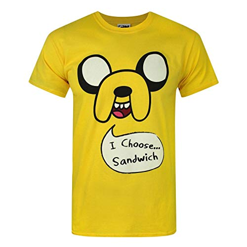 shirt 'i T Adventure Time Jaune Sandwich' Choose Jake Homme RIgFExB