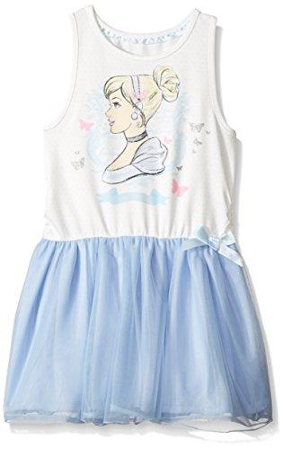 Disney Toddler Girls' Cinderella Ruffle Dress, Blue,