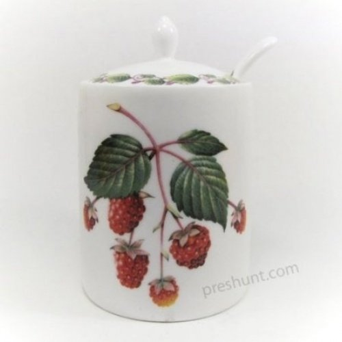 Modern Jam Pot and Spoon - Raspberry The Redwood Collection RW8537
