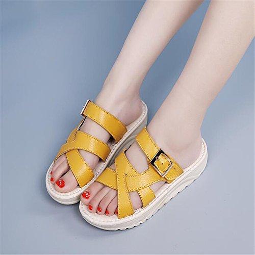 XZGC - Tira de tobillo Mujer amarillo