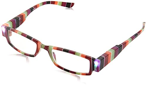 EVIDECO LED Reading Glasses with Light, LG Rainbow Optic By Finess Power +2.5 -  LGRAINBOW35