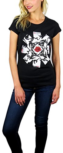 - Red Hot Chili Peppers Womens Logo Graphic Tee (Large, Magic Black)