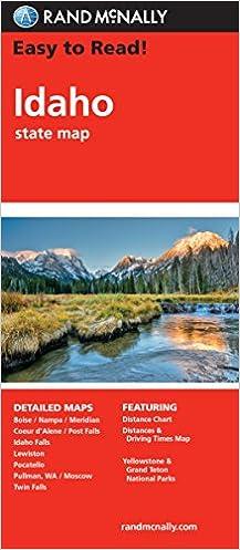 Easy To Read: Idaho State Map (Rand McNally Easy to Read!): Rand ...