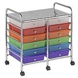 #2: ECR4Kids 10-Drawer Mobile Organizer, Grey