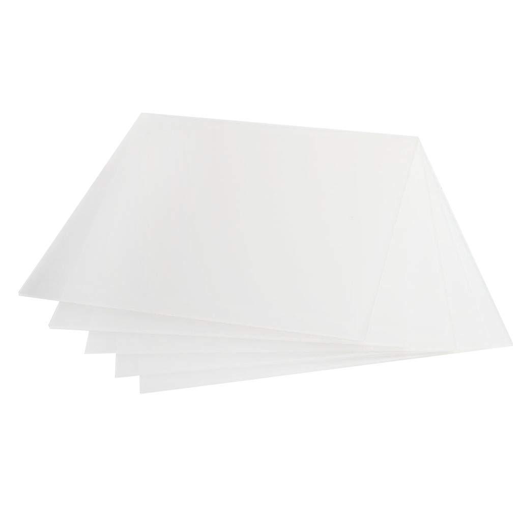 B Blesiya 5pcs Plaque Acrylique Incolore Feuille de Perspex Compact, 200 x 200 x 3 mm