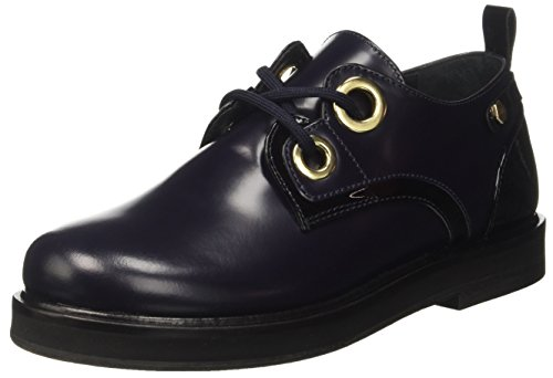 Ca7tfs Black Twin Mujer Zapatos Nero 01725 Set blue Bic Derby Multicolor Bw587g5q