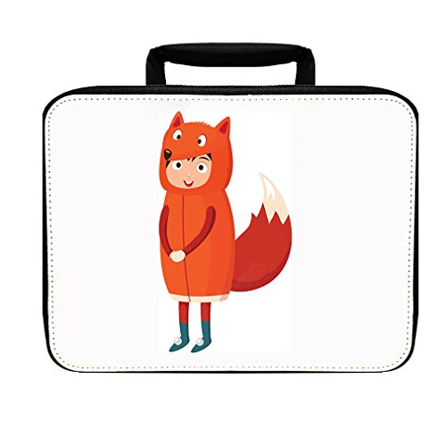 [Costume Fox Insulated Lunch Box Bag] (Fox Costumes Kit)