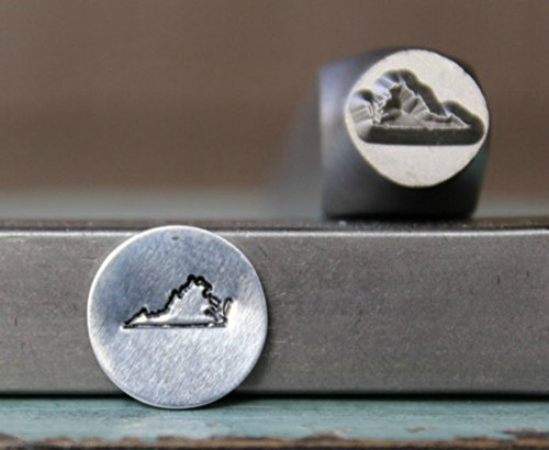 8mm Virginia US State Metal Punch Design Jewelry Stamp