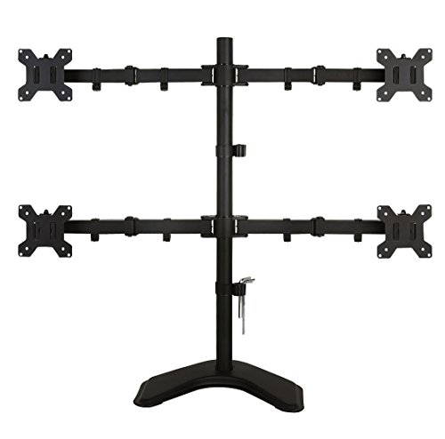 EZM Basic Quad 4 LCD LED Monitor Mount Stand Free Standing for sale  Delivered anywhere in USA