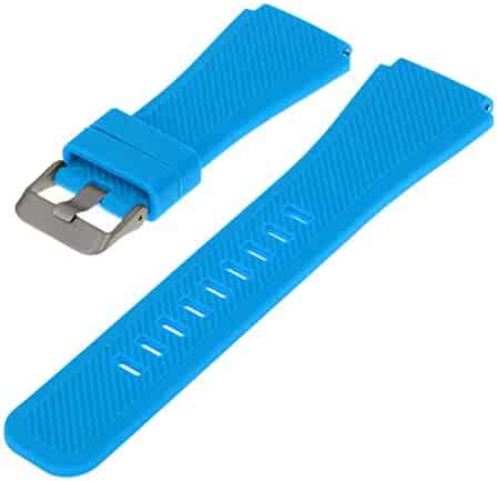 Outgeek Watch Band Silicone Watch Replacement Strap Color Watch Strap for Samsung Gear S3 Classic and Frontier