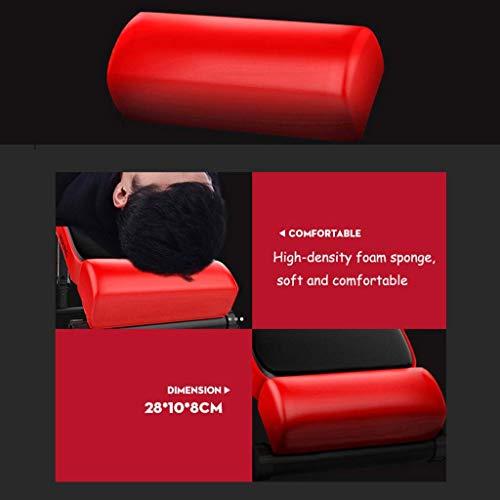 XQY Silla para ejercicios, pesa de gimnasia, banco de trabajo, rojo plegable, banqueta inclinada, tabla de inclinacion Pro Ab, ejercicio ajustable, ejercicio abdominal, mesa multifuncional de banco,