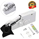 Portable Sewing Machine,Mini Handheld Sewing Machine MSDADA Electric Stitch Household Tool with Measuring Tape for Fabric, Clothing, Kids Cloth, Home Travel Use