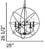 Canarm ICH282B05ORB25 Sumerside 5 Light Chandelier, Oil Rubbed Bronze