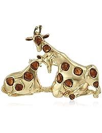 Napier Women's Multi-Colored Giraffe Brooches and Pin