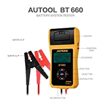 Autool BT-660 Battery Conductance Tester 12V/24V Auto Battery Testers analyzer