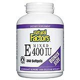 Natural Factors - Mixed Vitamin E 400UI - 240 softgels