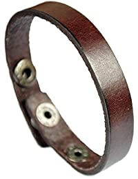 Free Engraving - Genuine Brown Leather Bracelet