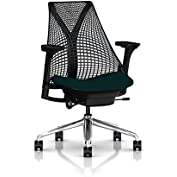 Herman Miller Sayl Task Chair: Tilt Limiter - Adj Seat Depth - Fully Adj Arms - Standard Carpet Casters - Polished...
