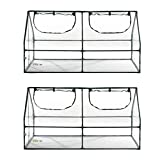 Ogrow Walk In Aluminum Lawn and Garden Greenhouse UV Protected Panels (2 Pack)