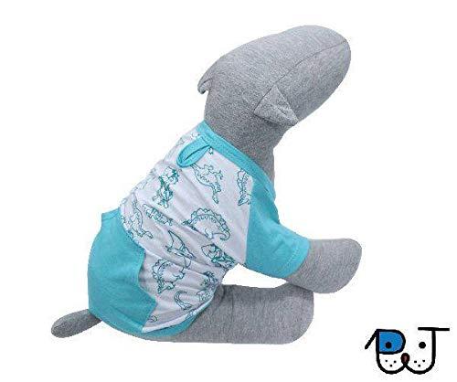 Roupa para Cães e Gatos Camiseta Canguru T-Rex M