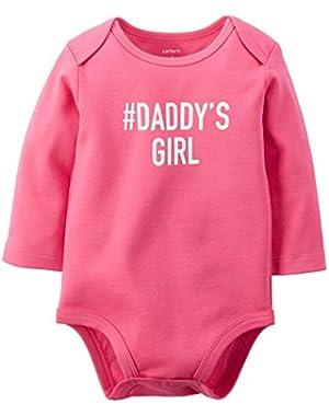 Baby Girls' Slogan Bodysuit - Daddy's Girl - 12 Months