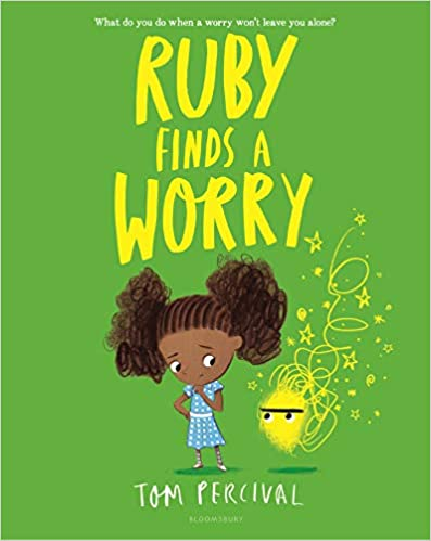Children's book cover for Ruby finds a Worry by Tom Percival for 18 children's books to teach children about social issues