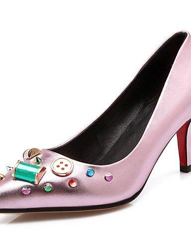 BGYHU GGX Damen Schuhe Stiletto Heel Heels NEUHEIT spitz Toe Heels Hochzeit Party & Abend Kleid Rosa rot