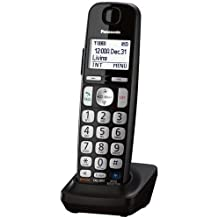 Panasonic KXTGEA20B Digital Cordless Handset for TGE210/230/240/260/270 series, Black (Renewed)