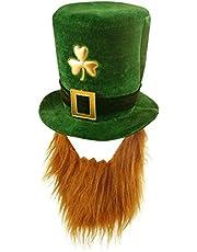 Velvet Shamrock Hat With Beard - St Patrick's Day