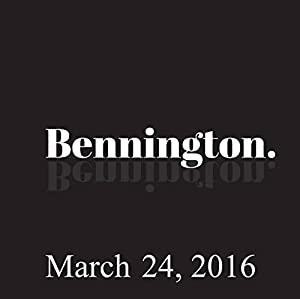 Bennington, Jim Florentine, March 24, 2016 Radio/TV Program
