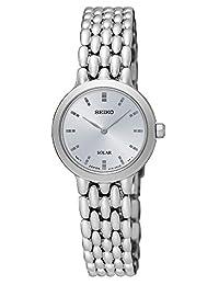 Seiko Women's SUP347 Solar Stainless Steel Wrist Watch