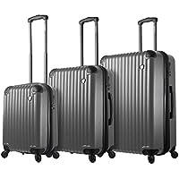 Mia Toro 3 Piece Italy Rotolo Hardside Spinner Luggage