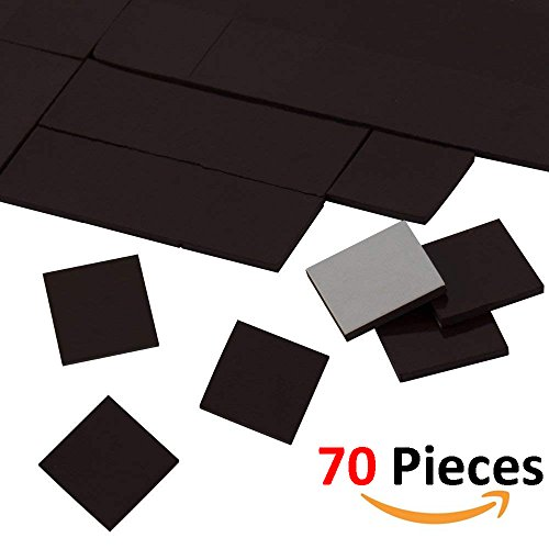 SupraMagnet Flexible Magnetic Squares for Fridge Organization, DIY Craft Project, Vision Board (Pack of 70 Pcs, 20x20x2mm)