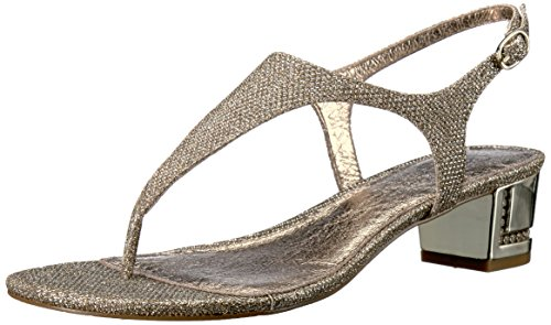 Adrianna Papell Women's Cassidy Flat Sandal, Platino, 9.5 M US by Adrianna Papell