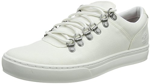 Timberland Adventure 2.0 Cupsole Fabric, Scarpe Stringate Oxford Uomo Bianco (White Canvas 100)