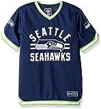 Icer Brands NFL Men's Jersey T-Shirt V-Neck Mesh Stripe Tee Shirt, Team Color