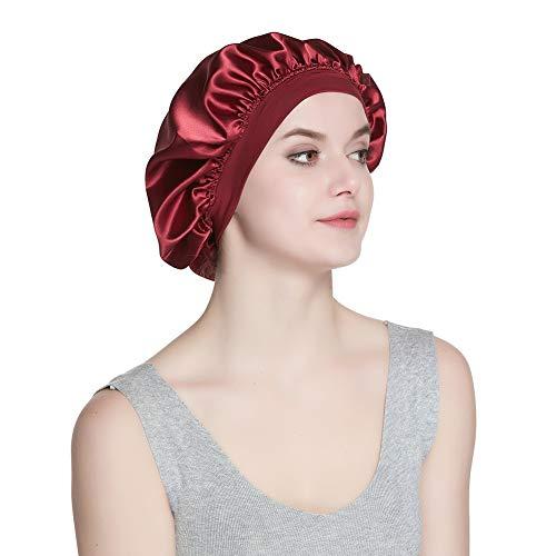 Wide Band Satin Bonnet Cap Silk Hat for Sleeping